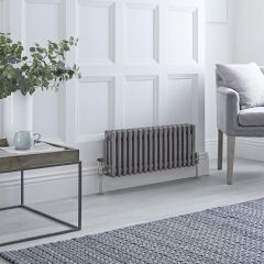 Milano Windsor - 3 Column Radiator - Raw Metal Lacquered 300mm x 789mm