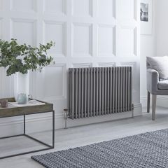 Milano Windsor - 3 Column Radiator - Raw Metal Lacquered 600mm x 1013mm