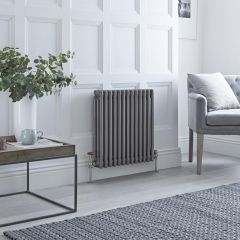Milano Windsor - 3 Column Radiator - Raw Metal Lacquered 600mm x 608mm