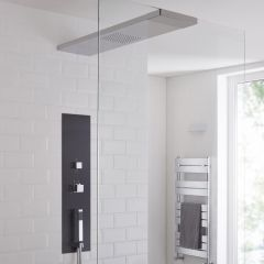 Milano Lisse Concealed Shower Tower with 900mm Glass Grabbing Shower Head