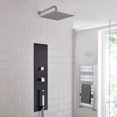 Milano Lisse Concealed Shower Tower with 300mm Square Head and Wall Arm