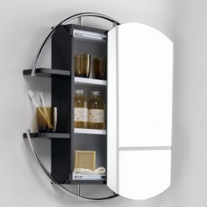 this hudson reed sphere bathroom cabinet features a sliding mirrored