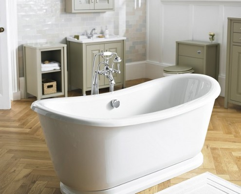 freestanding bath moder country bathroom
