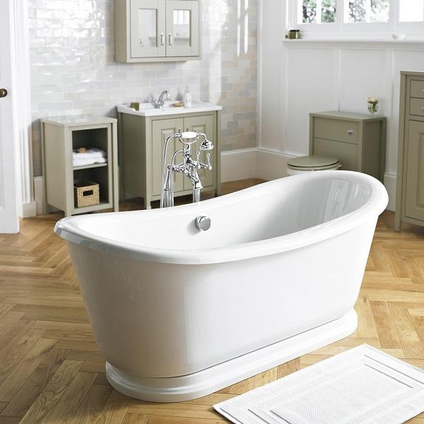 Modern country bathroom ideas for Modern traditional bathroom ideas