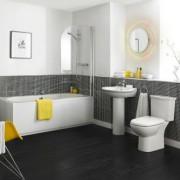 Monochrome bathroom suite