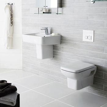 wall hung toilet and basin