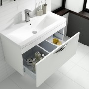 Hudson Reed white gloss vanity unit