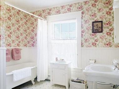 Vintage bathroom ideas pick of the best for Vintage bathroom wallpaper