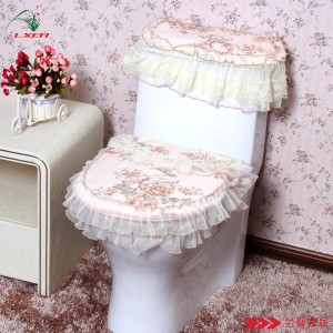 flowery toilet seat cover
