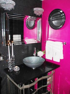 Pink and Black Bathroom Mistake