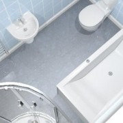 virtual bathroom design looking down into the room