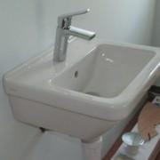 wall mounted basin semi pedestal