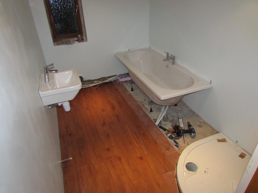 Marine Plywood Bathroom Floor : Bathroom renovation work in progress part