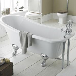 freestanding slipper bath