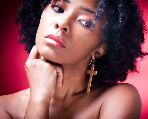 natural hair model