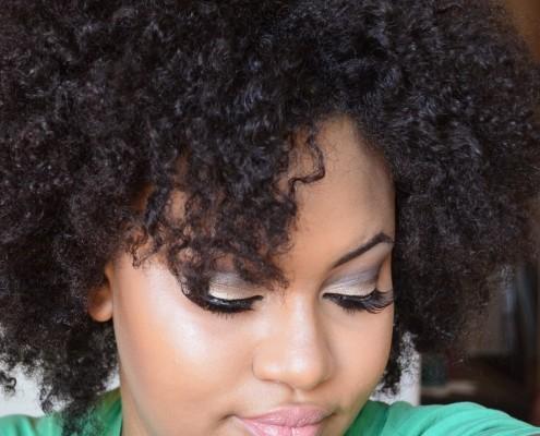 shoulder length afro girl