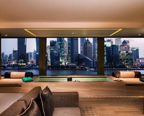 Luxury hotel designer bathroom