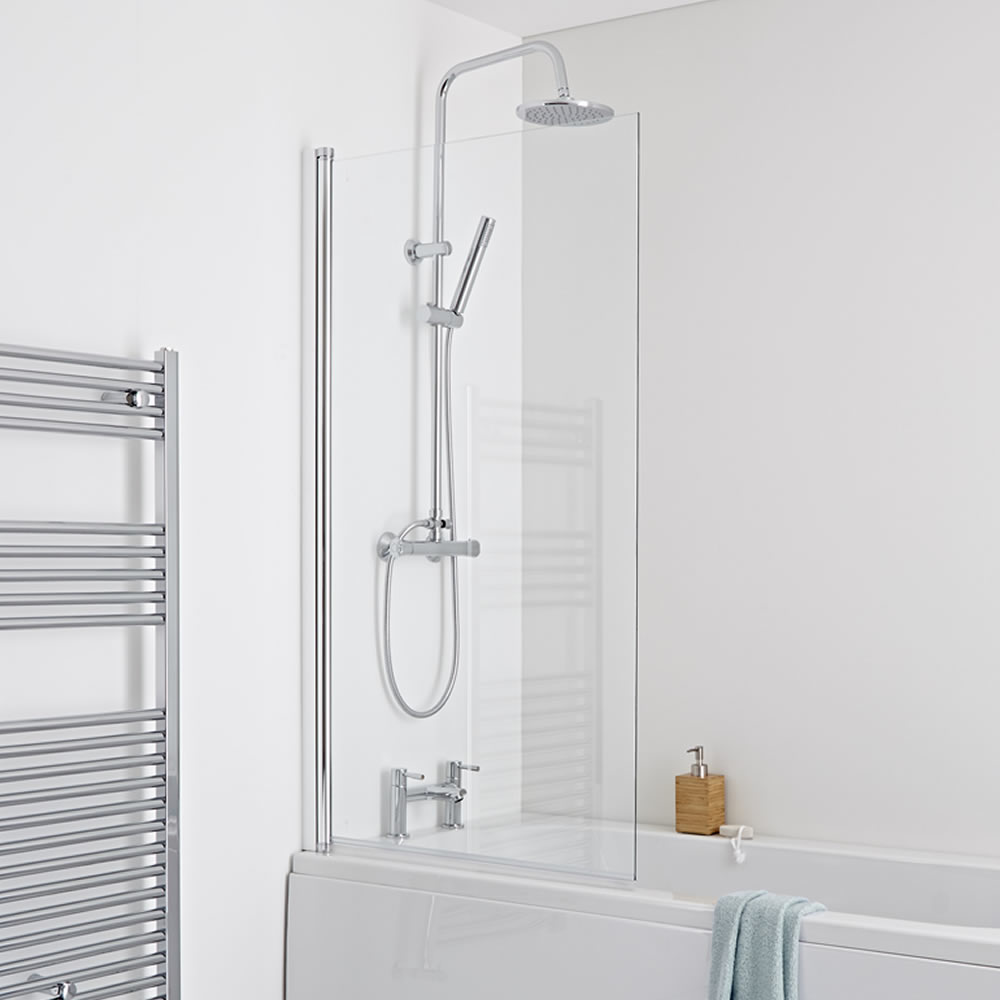 Top and bottom shower rod double hole