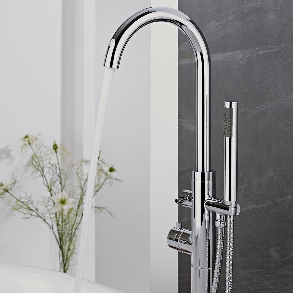 Get the look designer chic big bathroom shop for Bathroom taps designs