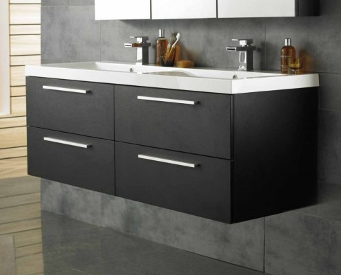 vanity unit with double sinks