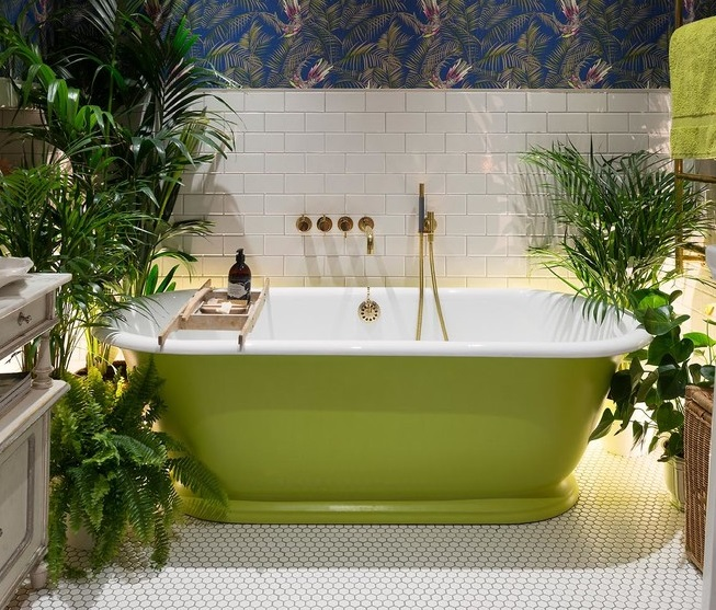 foliage in bathroom
