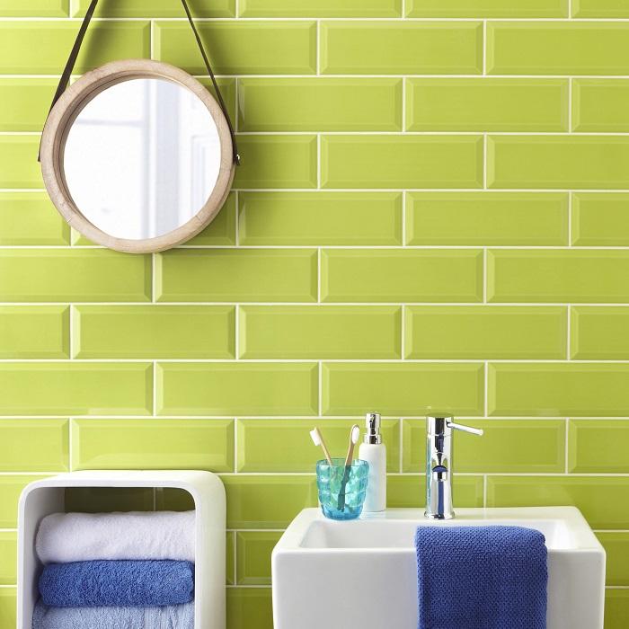green metro tiles