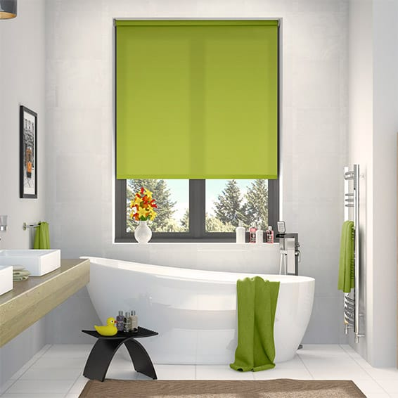 Valencia Simplicity lime roller blind