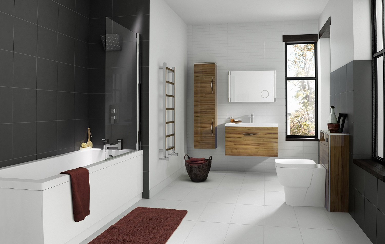 Bathroom suites how to create a space you ll love big for How big is a bathtub