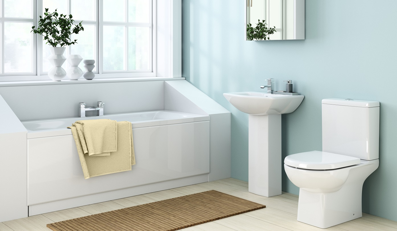 Duck egg blue bathroom accessories for Blue toilet accessories