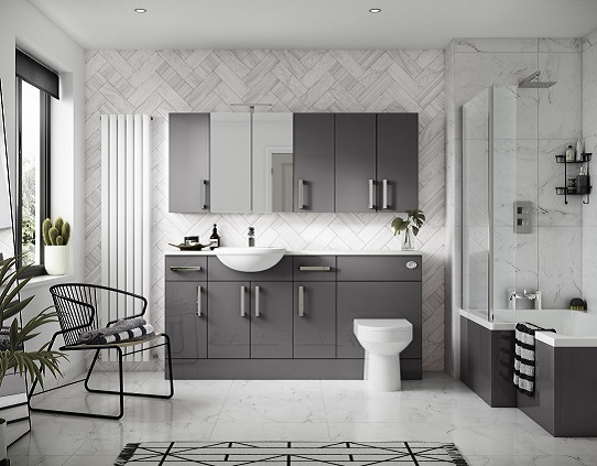 Grey bathroom ideas for a chic and sophisticated look for Modern white and grey bathroom