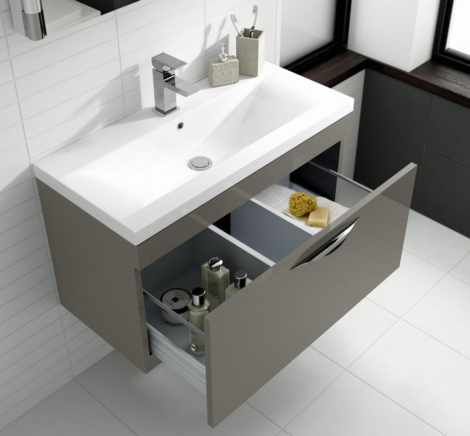 Modern bathroom cabinet modern bathroom vanity units for Wastafel kitchen set