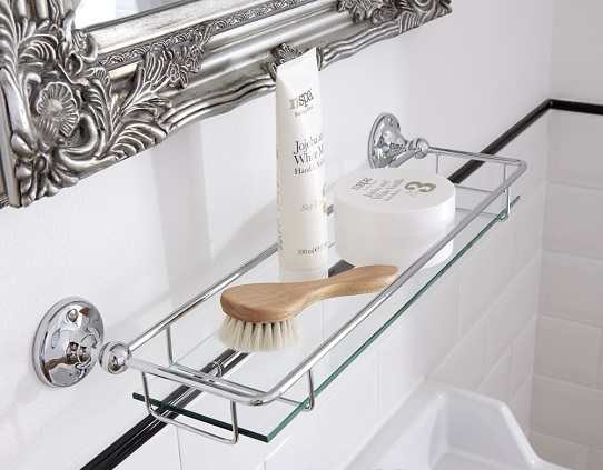 traditional-glass-bathroom-shelf